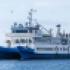 Белое море, синий теплоход